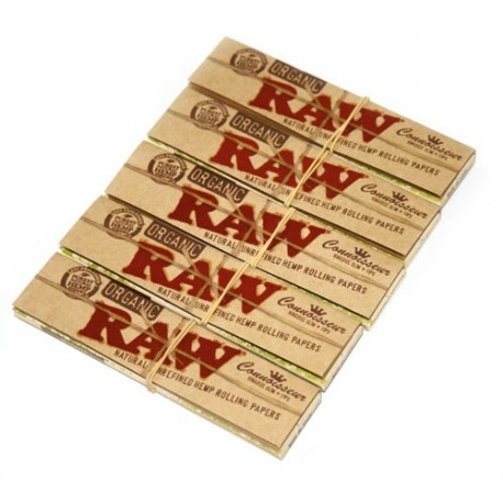 RAW Organic Connoisseur King Size Slim paber + Filter tips 5 x 32