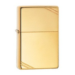 Zippo 270 Vintage High Polish Brass w/slashes tulemasin
