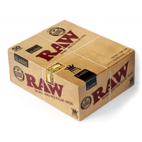 RAW Classic King Size Slim unrefined rolling paper