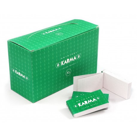 KARMA Perforated biodegradable handmade Regular filter tips - 50 booklets